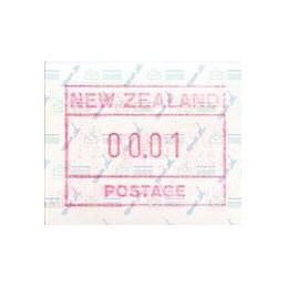 NEW ZEALAND (1986). Map....