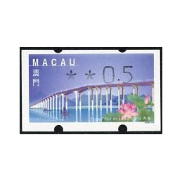 MACAU (2001). Puente - Ponte 'Flor de Lótus' - REIMP 2000 - Klüssendorf. ATM nuevo (xx0.5)
