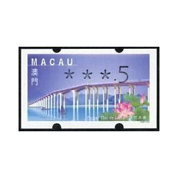 MACAU (2001). Puente - Ponte 'Flor de Lótus' - REIMP 2000 - Klüssendorf. ATM nuevo (xxx.5)