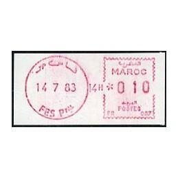 MARRUECOS (1983). SFS - FES Ppal - lila. Sello nuevo