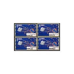ESPAÑA. 12.1. Espacio - azul oscuro. PTS-5A. Serie 4 val. (1997)