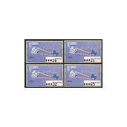 ESPAÑA. 14.1. Espacio - azul claro. PTS-5A. Serie 4 val. (1997)