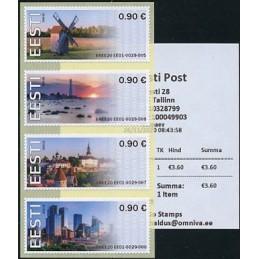 ESTONIA (2020). Visita Estonia (Tallinn, molino y faro) - BNEE20 EE01. ATMs nuevos + recibo (primer día)