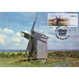 ESTONIA (2020). Visita Estonia (Tallinn, molino y faro) - BNEE20 EE01. Tarjeta máxima (Molino de viento Kukka)
