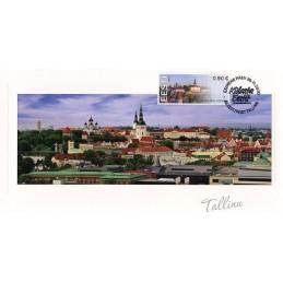 ESTONIA (2020). Visita Estonia (Tallinn, molino y faro) - BNEE20 EE01. Tarjeta máxima (Tallinn centro histórico)