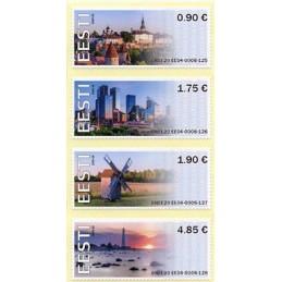 ESTONIA (2020). Visita Estonia (Tallinn, molino y faro) - BNEE20 EE04. Serie  4 valores