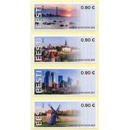 ESTONIA (2020). Visita Estonia (Tallinn, molino y faro) - BNEE20 EE04. ATMs nuevos