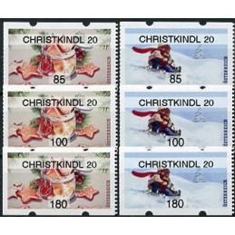 AUSTRIA (2020). Galletas de Navidad y paseo en trineo (Invierno 2020) - CHRISTKINDL 20. Serie 6 valores