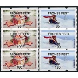 AUSTRIA (2020). Galletas de Navidad y paseo en trineo (Invierno 2020) - FROHES FEST. Serie 6 valores