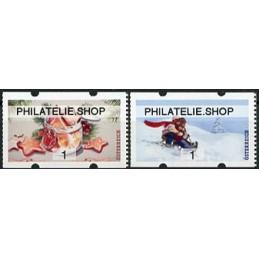 AUSTRIA (2020). Galletas de Navidad y paseo en trineo (Invierno 2020) - PHILATELIE.SHOP. ATMs nuevos ( 1)