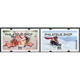 AUSTRIA (2020). Galletas de Navidad y paseo en trineo (Invierno 2020) - PHILATELIE.SHOP. ATMs nuevos (85)