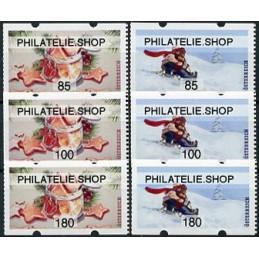 AUSTRIA (2020). Galletas de Navidad y paseo en trineo (Invierno 2020) - PHILATELIE.SHOP. Serie 6 valores