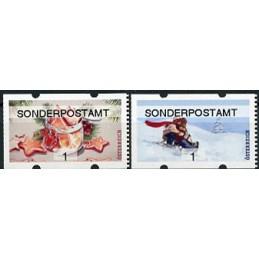 AUSTRIA (2020). Galletas de Navidad y paseo en trineo (Invierno 2020) - SONDERPOSTAMT. ATMs nuevos ( 1)
