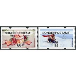 AUSTRIA (2020). Galletas de Navidad y paseo en trineo (Invierno 2020) - SONDERPOSTAMT. ATMs nuevos (85)