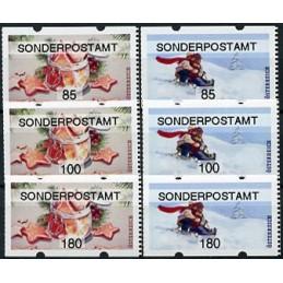 AUSTRIA (2020). Galletas de Navidad y paseo en trineo (Invierno 2020) - SONDERPOSTAMT. Serie 6 valores