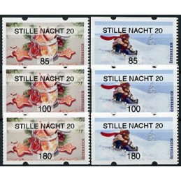 AUSTRIA (2020). Galletas de Navidad y paseo en trineo (Invierno 2020) - STILLE NACHT 20. Serie 6 valores