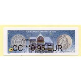 FRANCIA (2020). Cathédrale Notre-Dame de Paris. BROTHER. ATM nuevo (0,95 EUR)