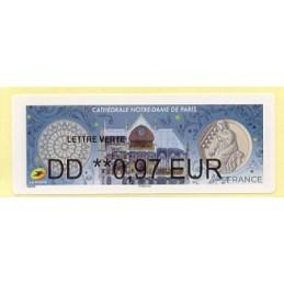 FRANCIA (2020). Cathédrale Notre-Dame de Paris. BROTHER. ATM nuevo (0,97 EUR)