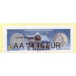 FRANCIA (2020). Cathédrale Notre-Dame de Paris. BROTHER. ATM nuevo (1,16 EUR)