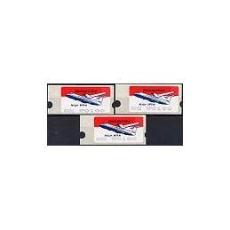 INDONESIA (1996). Avión N 250 - 001+002+003. ATMs nuevos