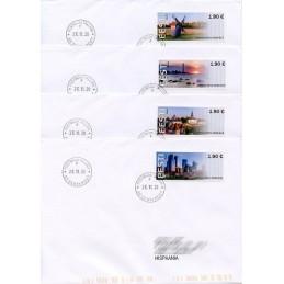 ESTONIA (2020). Visita Estonia (Tallinn, molino y faro) - BNEE20 EE01. Sobres primer día (España) - Fechador