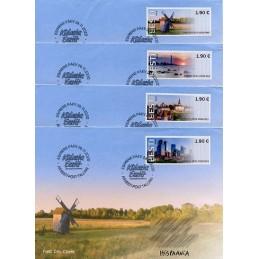 ESTONIA (2020). Visita Estonia (Tallinn, molino y faro) - BNEE20 EE01. Sobres primer día (España) - Especial