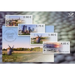 ESTONIA (2020). Visita Estonia (Tallinn, molino y faro)  . Tarjeta informativa