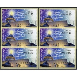 ISRAEL (2020). Season's Greetings from the Holy Land - 00101. Serie 6 valores
