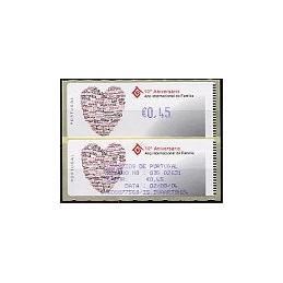 PORTUGAL. 10 Aniv. Familia - Crouzet-Azul. ATM (0,45) + rec.