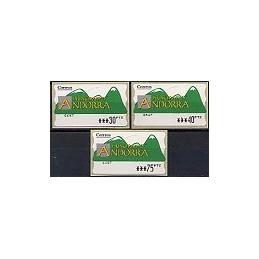 ANDORRA. Montañas verdes - 2. PTS-5E-6647. Serie 3 val.