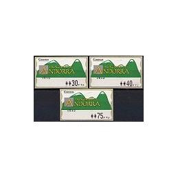 ANDORRA. Montañas verdes - 2. PTS-4CB-1512. Serie 3 val.