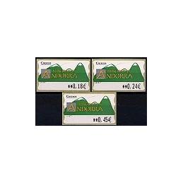 ANDORRA. Montañas verdes- 1. EUR-5E-6647. Serie 3 val. (1)
