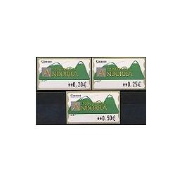 ANDORRA. Montañas verdes- 1. EUR-5E-6647. Serie 3 val. (2)