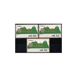 ANDORRA. Montañas verdes- 1. EUR-5E-6647. Serie 3 val. (3)