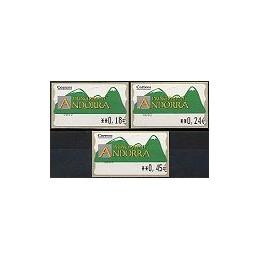 ANDORRA. Montañas verdes- 2. EUR-5E-0083. Serie 3 val. (1)
