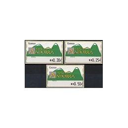ANDORRA. Montañas verdes- 2. EUR-5E-0083. Serie 3 val. (2)