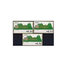 ANDORRA. Montañas verdes- 2. EUR-5E-0083. Serie 3 val. (3)