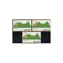 ANDORRA. Montañas verdes- 3. EUR-5E-0280. Serie 3 val. (1)
