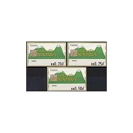 ANDORRA. Montañas verdes- 3. EUR-5E-0280. Serie 3 val. (2)