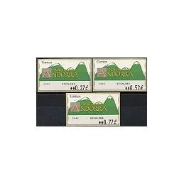ANDORRA. Montañas verdes- 3. EUR-5E-0446 ESCALDES. Serie 3 v.-3
