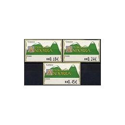 ANDORRA. Montañas verdes- 3. EUR-5E-5466. Serie 3 val. (1)