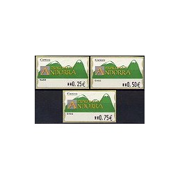 ANDORRA. Montañas verdes- 3. EUR-5E-5466. Serie 3 val. (3)