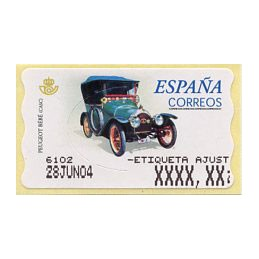 SPAIN (2001). 60E. Peugeot...