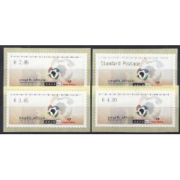 ÁFRICA SUR (2004). FIFA 2010. Serie 4 val. (1)