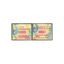 AUSTRALIA (1996). Frama festiva. ATMs nuevos (7)