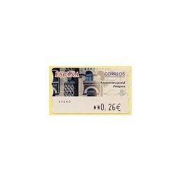 ESPAÑA. 75. Arqu. postal - Zaragoza. LF-5E. ATM nuevo (0,26)