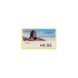 ESPAÑA. 78. Arq. postal - A Coruña. LF-5E. ATM nuevo (0,26)
