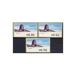 ESPAÑA. 78. Arq. postal - A Coruña. LF-5E. Serie 3 val.