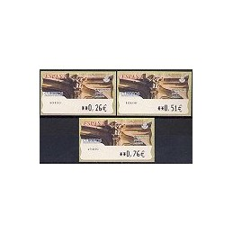 ESPAÑA. 82. Arq. postal - Madrid. LF-5E. Serie 3 val.