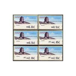 ESPAÑA. 78. Arq. postal - A Coruña. LF-5E. Serie 6 val.